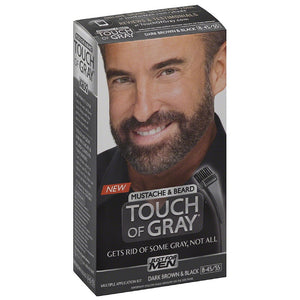 JUST FOR MEN Touch of Gray Mustache & Beard Hair Treatment, Dark Brown & Black 1 ea