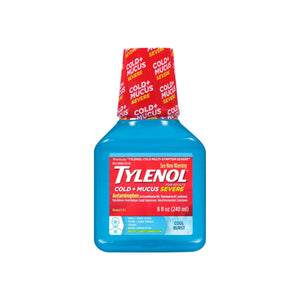 TYLENOL Cold + Mucus Severe Relief Liquid, Cool Burst 8 oz
