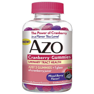 AZO Cranberry Gummies Urinary Tract Health, Mixed Berry 40 ea