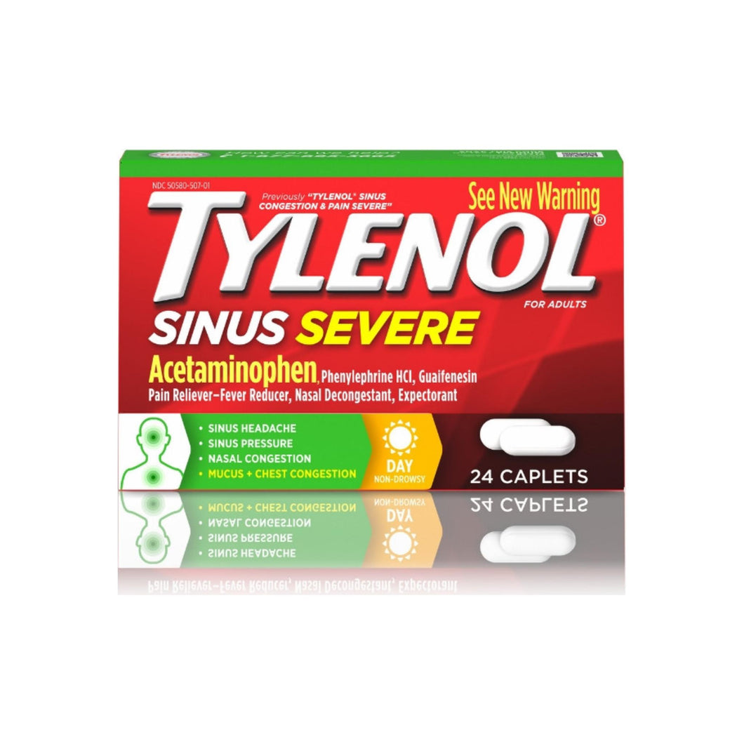 TYLENOL Sinus Congestion & Pain, Severe Caplets Daytime Non-Drowsy 24 EA