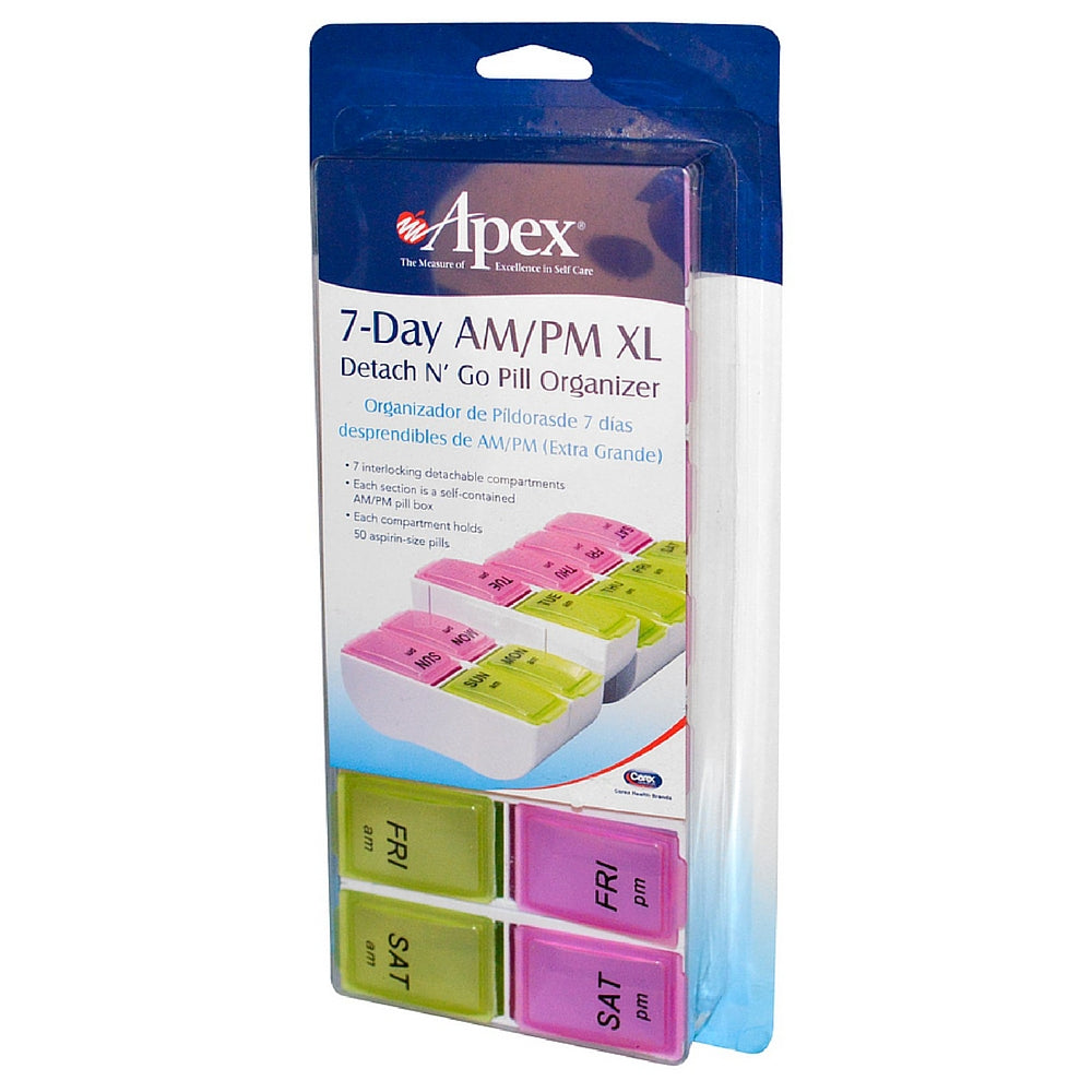 Apex 7-Day AM/PM Detach N' Go XL Pill Organizer 1 ea