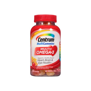 Centrum MultiGummies Multi + Omega-3 Gummy Multivitamin  100 ea