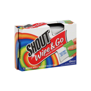 Shout Wipe & Go Instant Stain Remover Wipes 12 ea