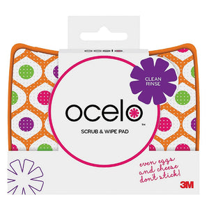 O-Cel-O Scrub & Wipe Cleaning Pad, Assorted Colors 1 ea