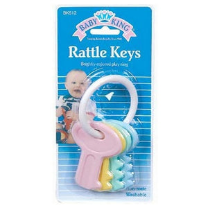 Baby King Rattle Keys, Assorted Colors 1 ea