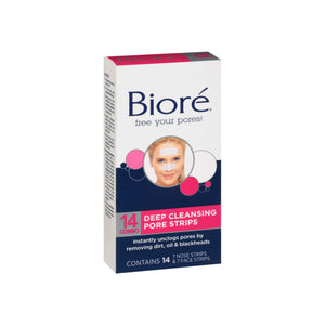 Biore Combo Pack Deep Cleansing Pore Strips Face/Nose 14 ea