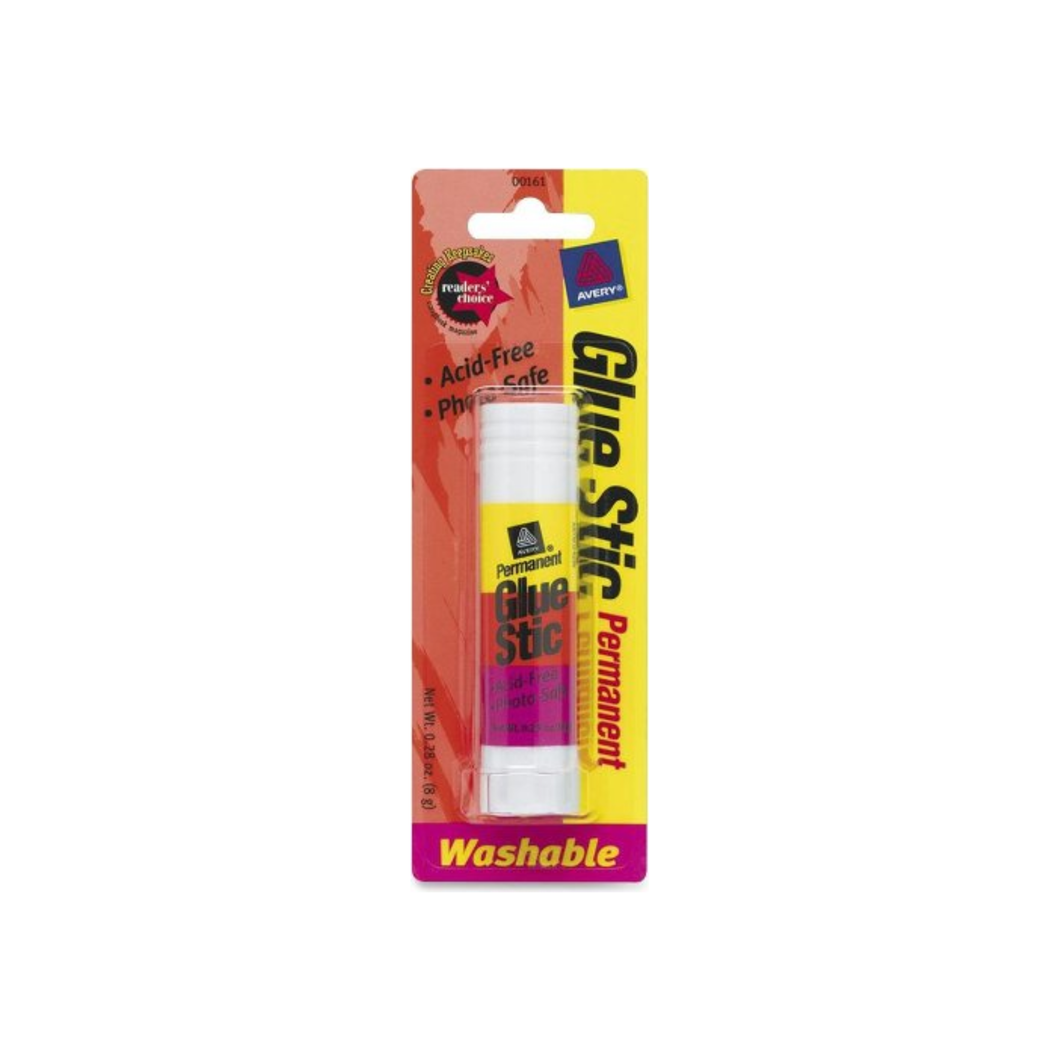 Avery Permanent Glue Stic, Washable 0.26 oz