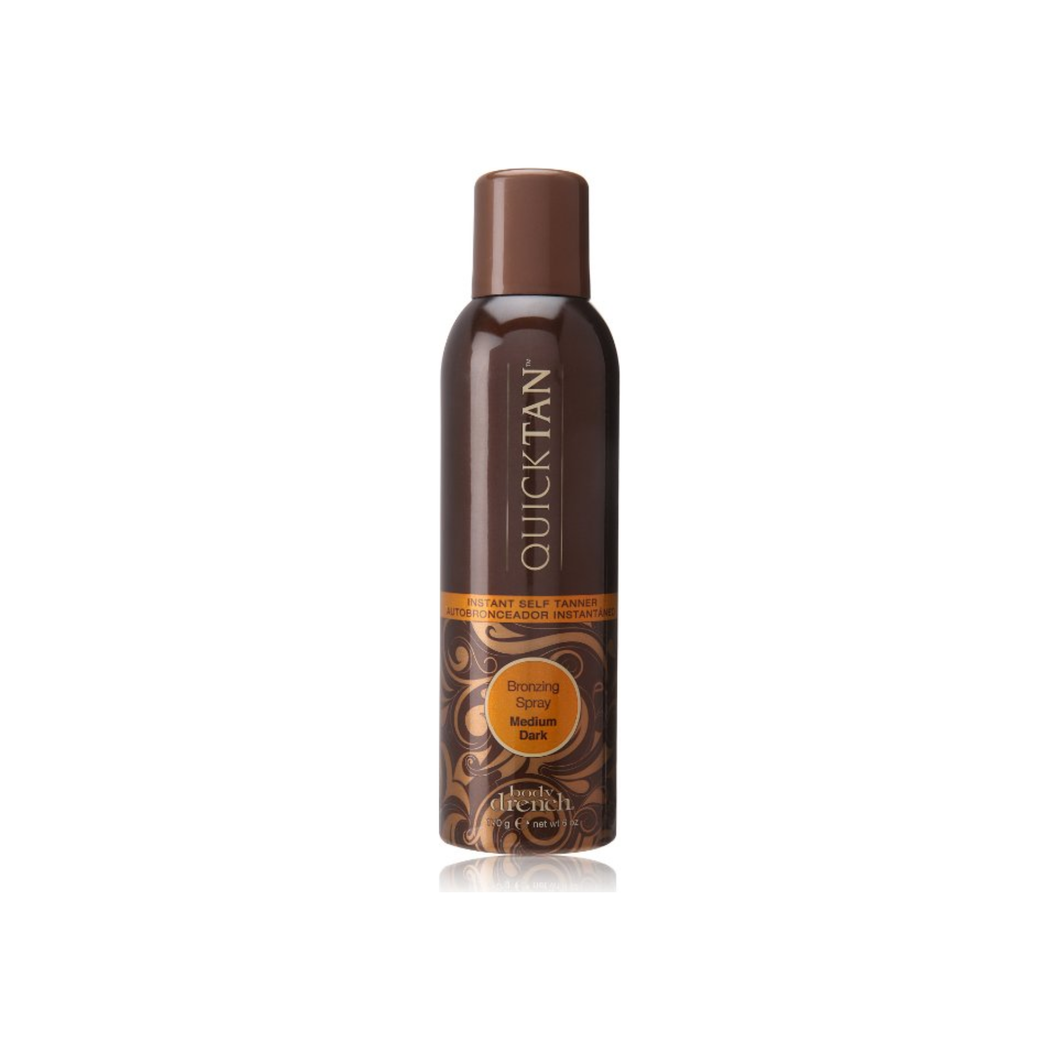 Body Drench Quick Tan Instant Self Tanner Bronzing Spray, Medium/Dark 6 oz