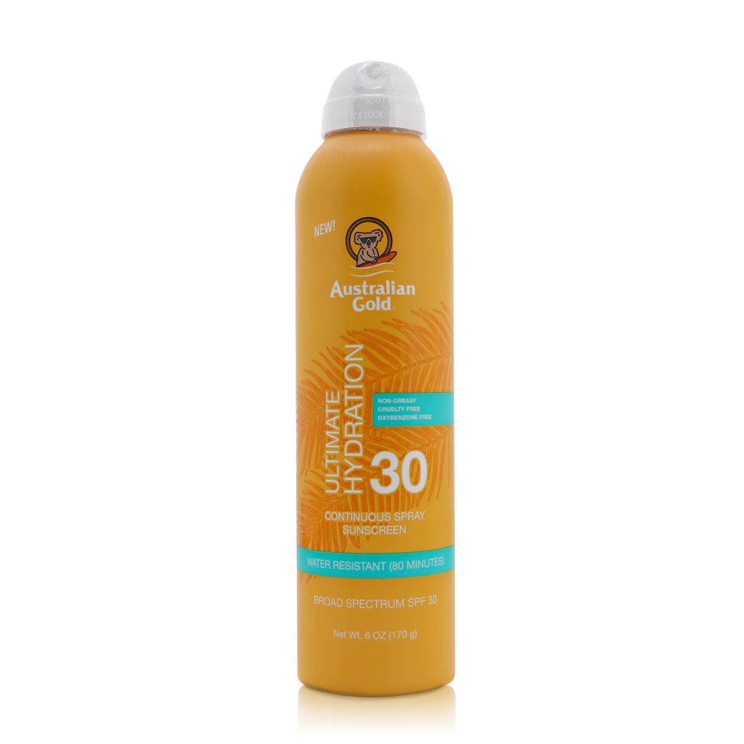 Australian Gold Gold Continuous Spray, SPF 30, Clear 6 oz