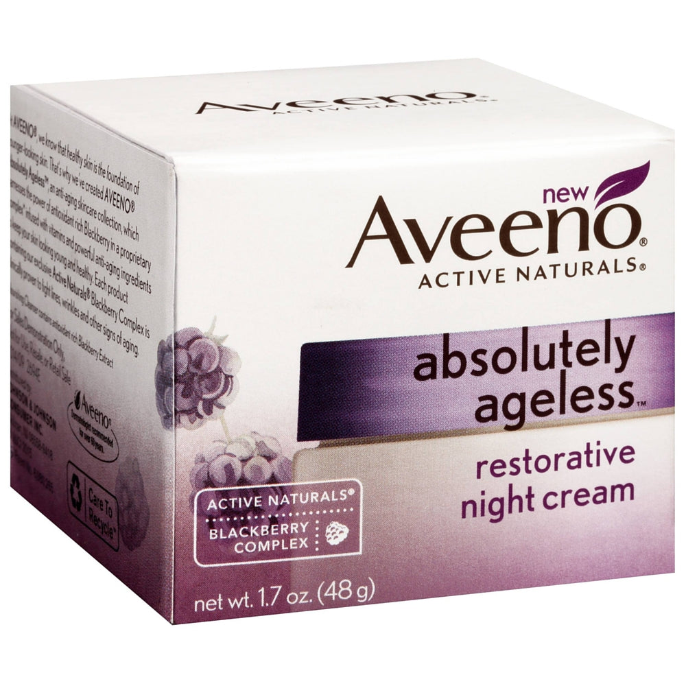AVEENO Active Naturals Absolutely Ageless Restorative Night Cream, Blackberry 1.7 oz
