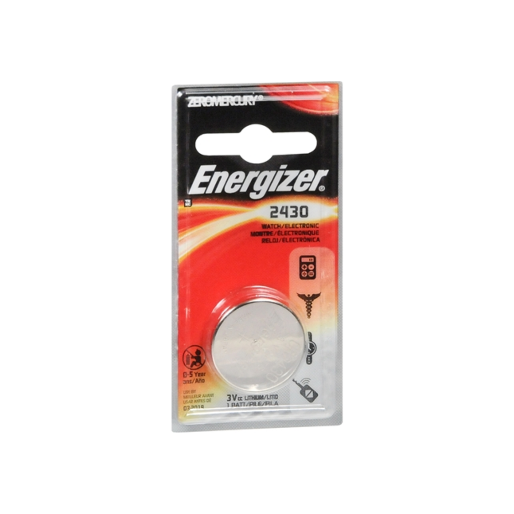 Energizer 2430 Watch/Electronic Lithium Battery 1 ea