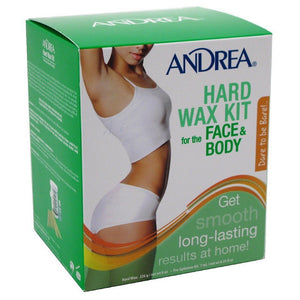 Andrea Hard Wax Kit for Face & Body 8 oz