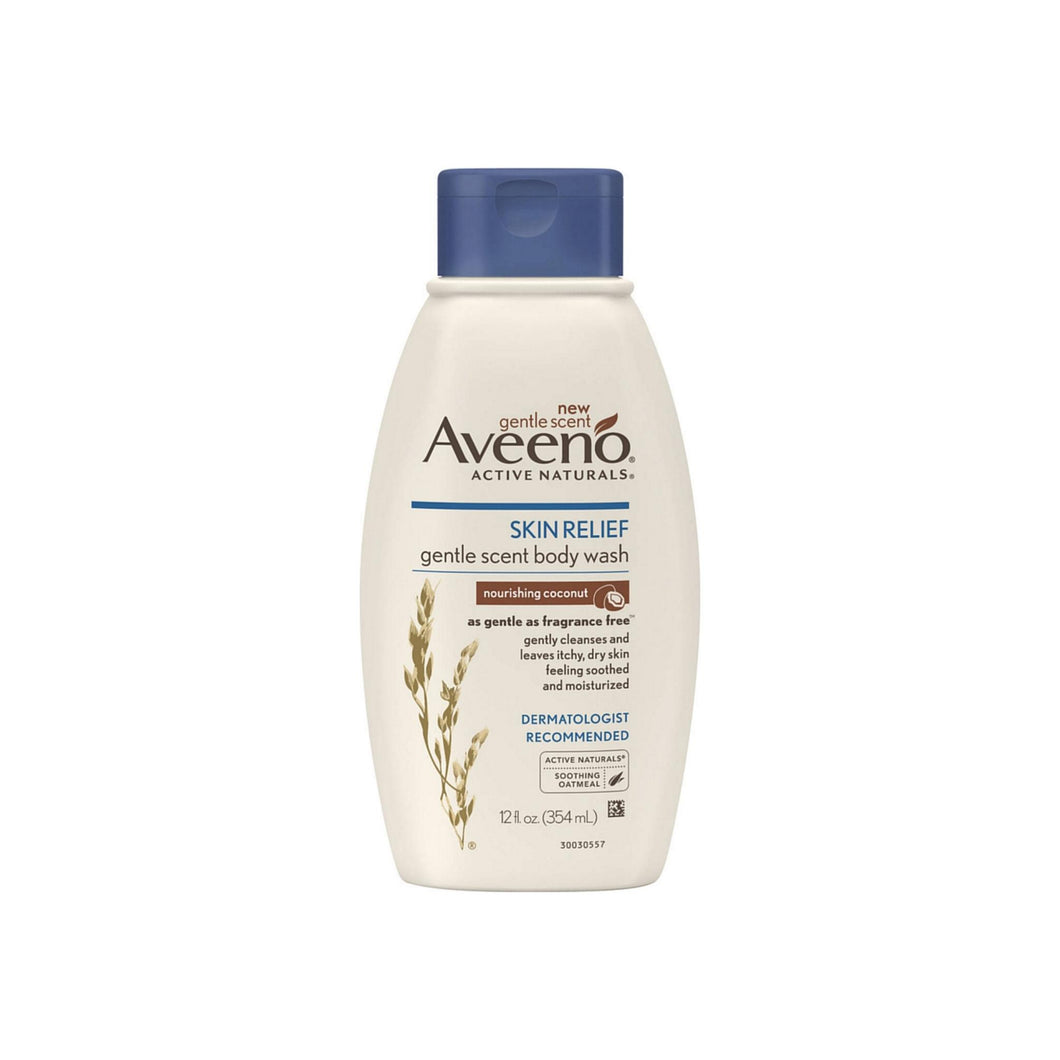 AVEENO Active Naturals Skin Relief Gentle Scent Body Wash, Nourishing Coconut 12 oz