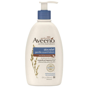 AVEENO Active Naturals Skin Relief Gentle Lotion, Nourishing Coconut 12 oz