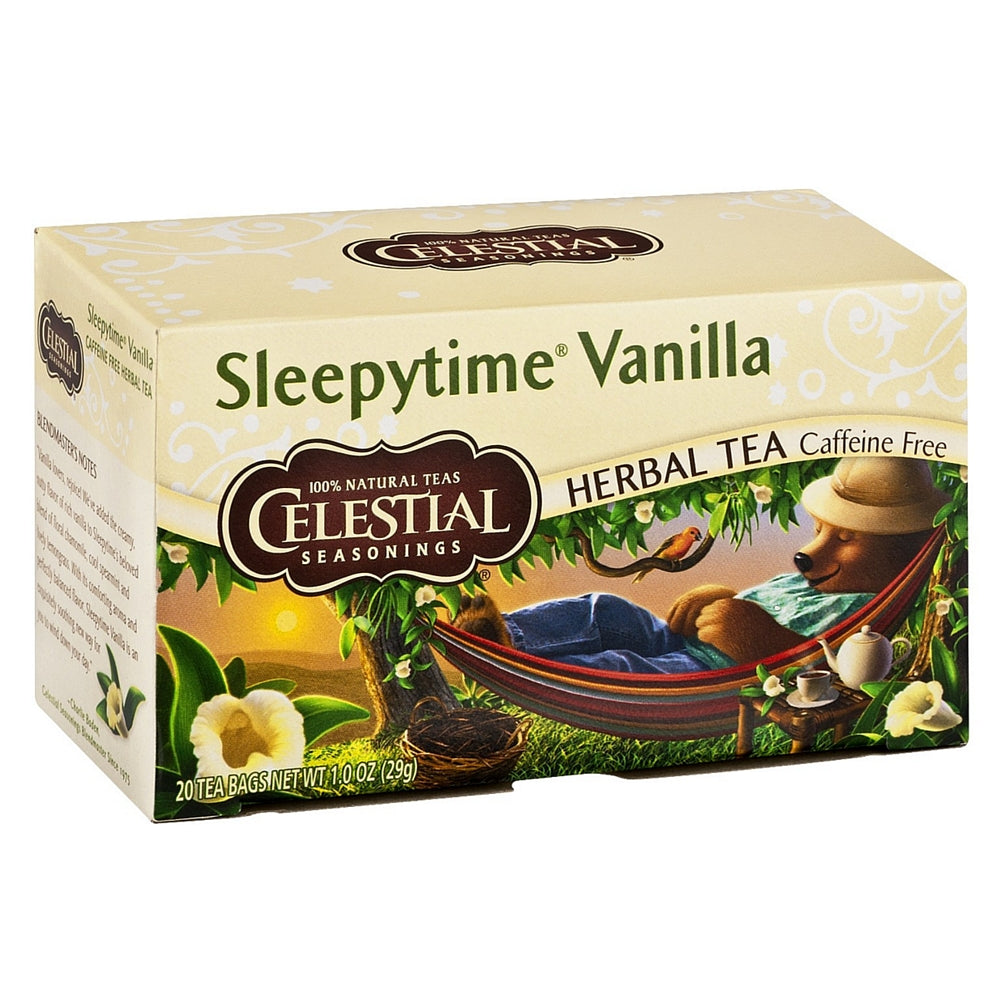Celestial Seasonings Caffeine Free Herbal Tea Bags, Sleepytime Vanilla 20 ea