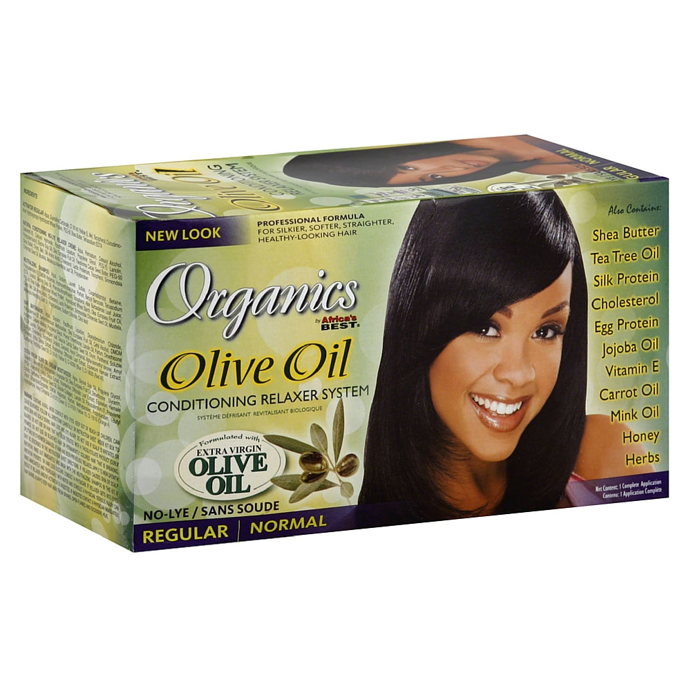 Africa's Best Organics Olive Oil Conditioning Regular Relaxer System, Extra Virgin Olive Oil 1 ea