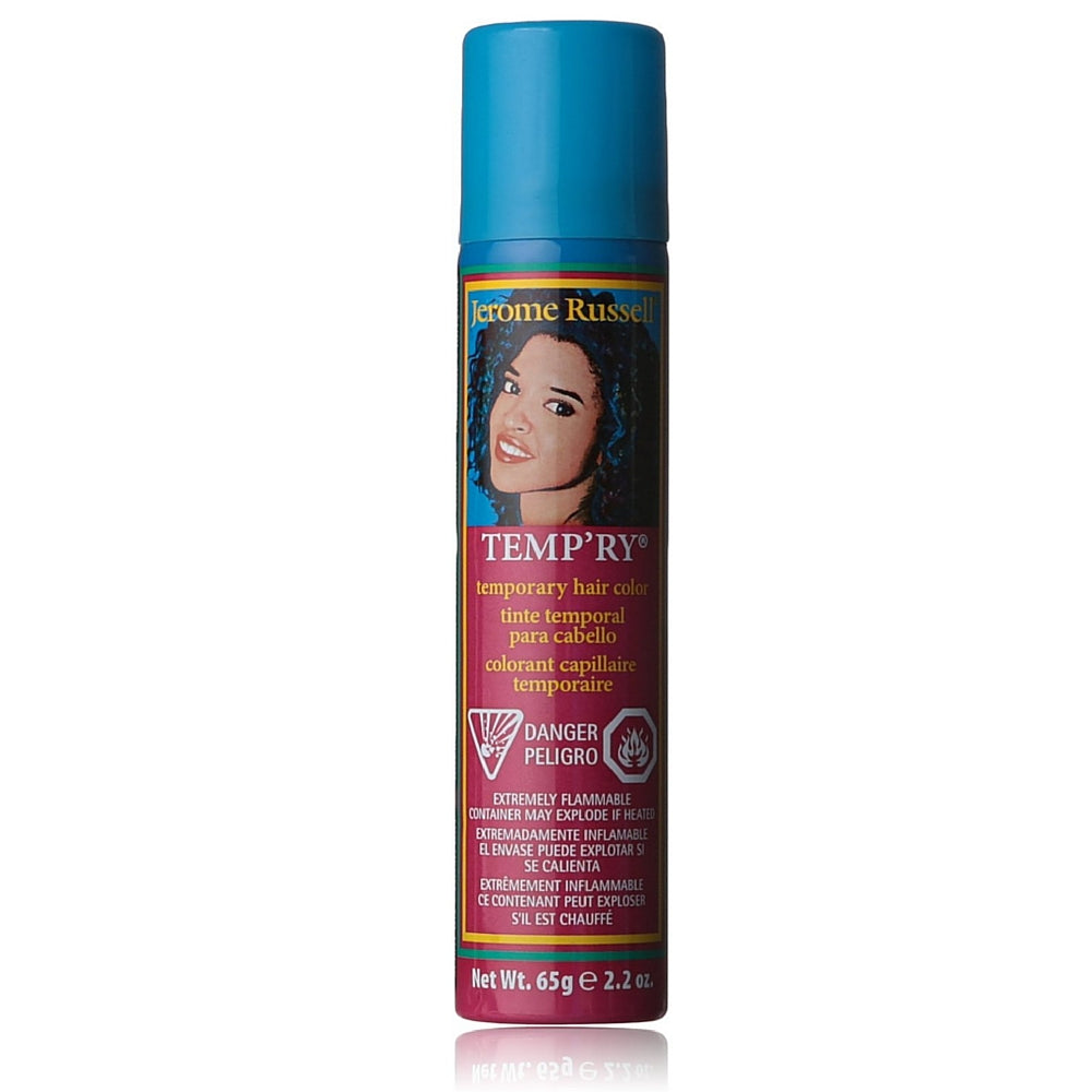 Jerome Russell Temporary Hair Color Spray, Blue 2.2 oz