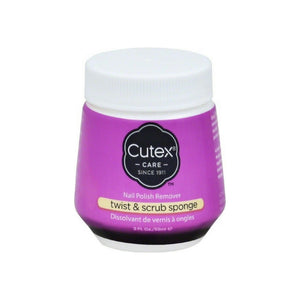 Cutex Nail Polish Remover Twist & Scrub Sponge 2 oz