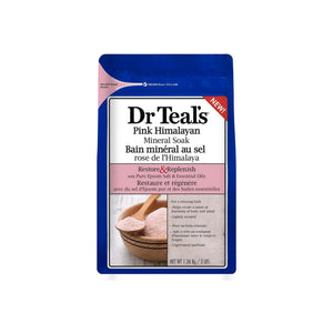 Dr Teal's Restore & Replenish Pure Epsom Salt & Essential Oils, Pink Himalayan 48 oz