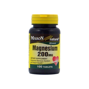 Mason Natural Magnesium 200 mg Tablets 100 ea
