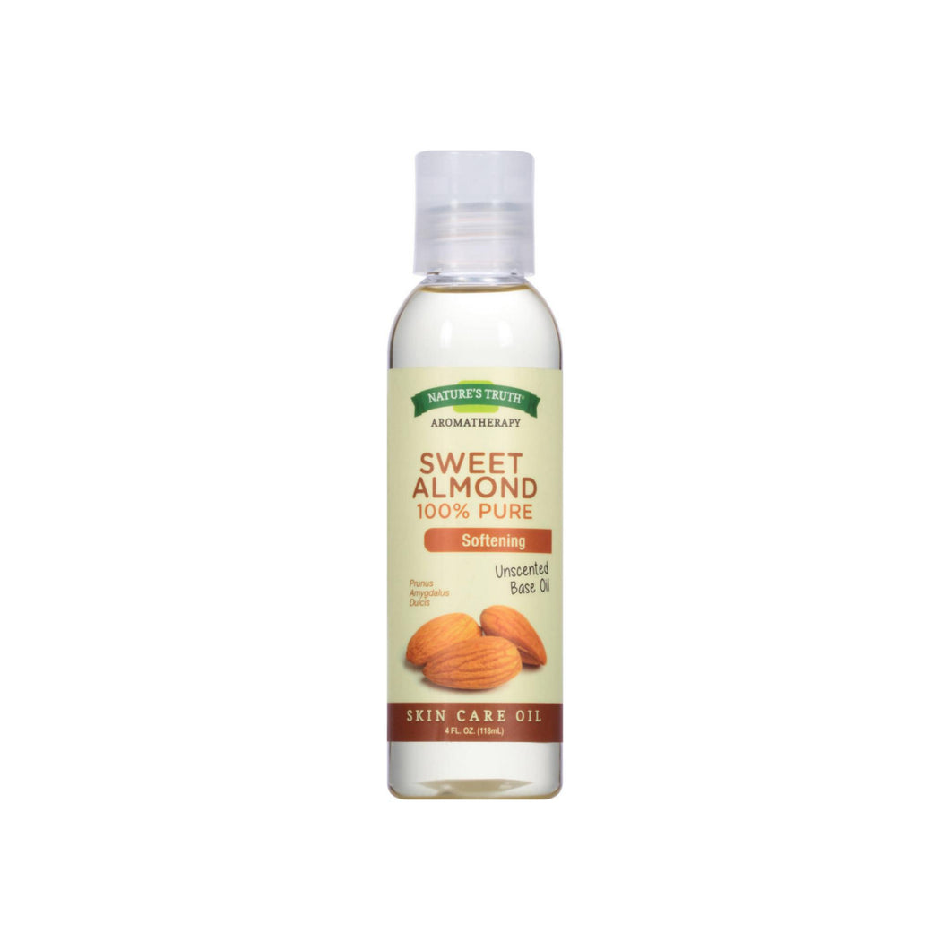 Nature's Truth 100% Pure Unscented Skin Care Base Oil, Sweet Almond 4 oz