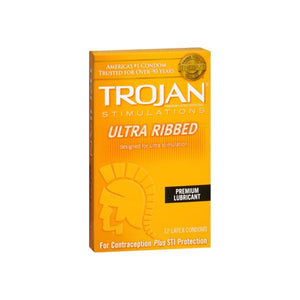 TROJAN Simulations Lubricated Latex Condoms 12 Each