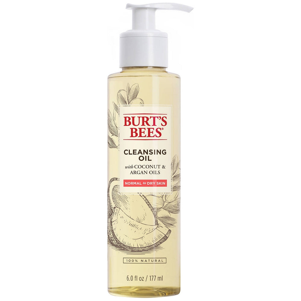 Burt's Bees Cleansing Oil with Coconut & Argan Oils for Normal to Dry Skin 6 oz