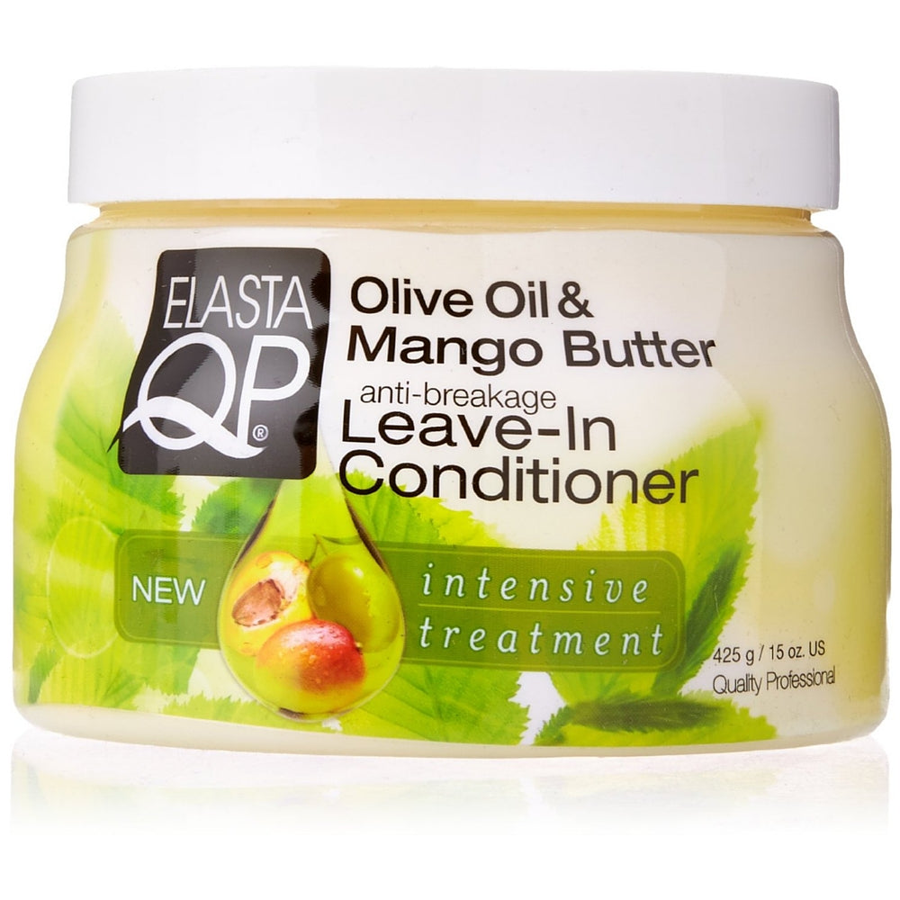 Elasta QP Anti-Breakage Leave-In Conditioner, Olive Oil & Mango Butter 15 oz