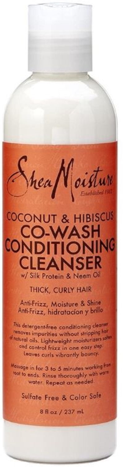 Shea Moisture Coconut & Hibiscus Co-Wash Conditioning Cleanser, 8 oz