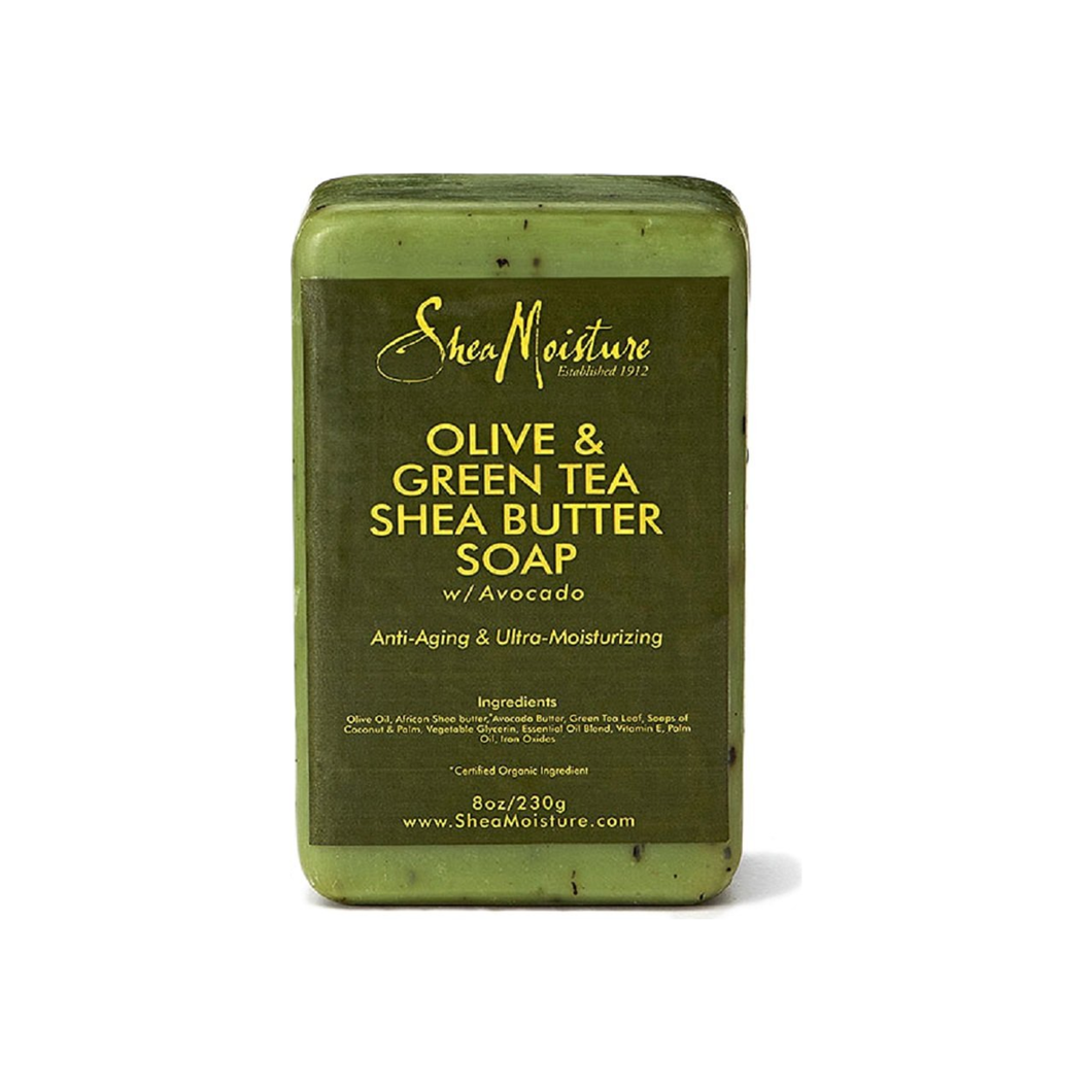 Shea Moisture Olive & Green Tea Shea Butter Bar Soap 8 oz