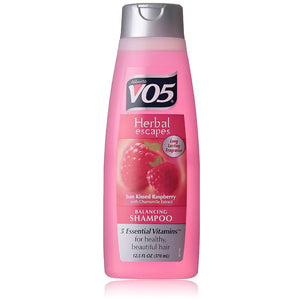 VO5 Herbal Escapes Balancing Shampoo, Sun Kissed Raspberry with Chamomile Extract 12.50 oz