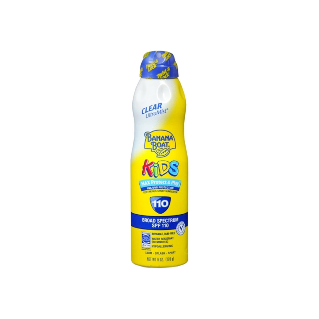 Banana Boat Kids Max Protect & Play Continuous Spray Sunscreen SPF 110 6 oz