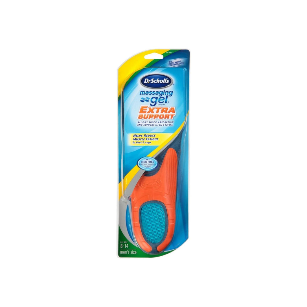 Dr. Scholl's Massaging Gel Extra Support Insoles, Size 8-14 1 ea