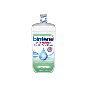 Biotene Dry Mouth Gentle Oral Rinse Soothing Moisturization, Mild Mint 33.8 oz