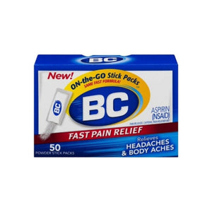 BC Aspirin Fast Pain Relief Powder 50 ea