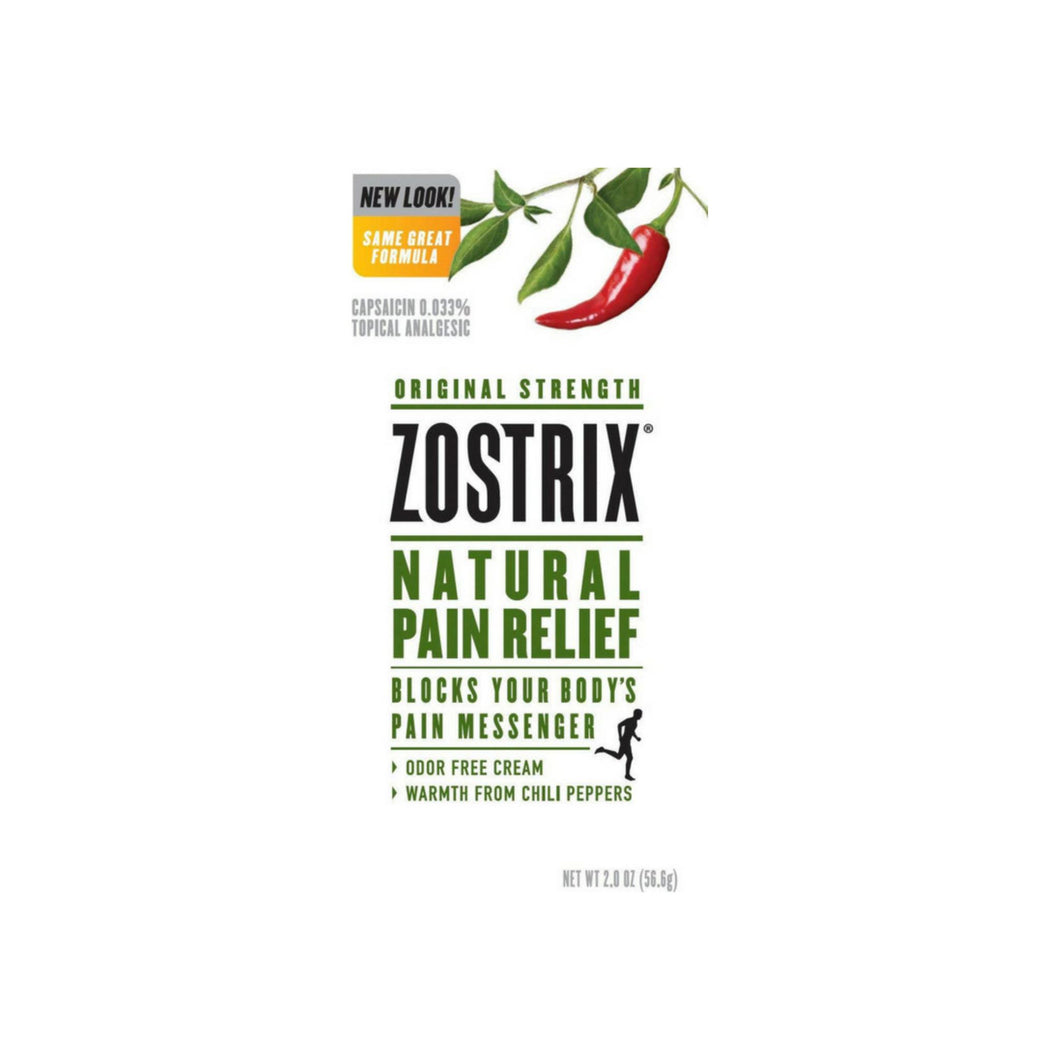 Zostrix Original Strength Natural Pain Relief Cream 2 oz