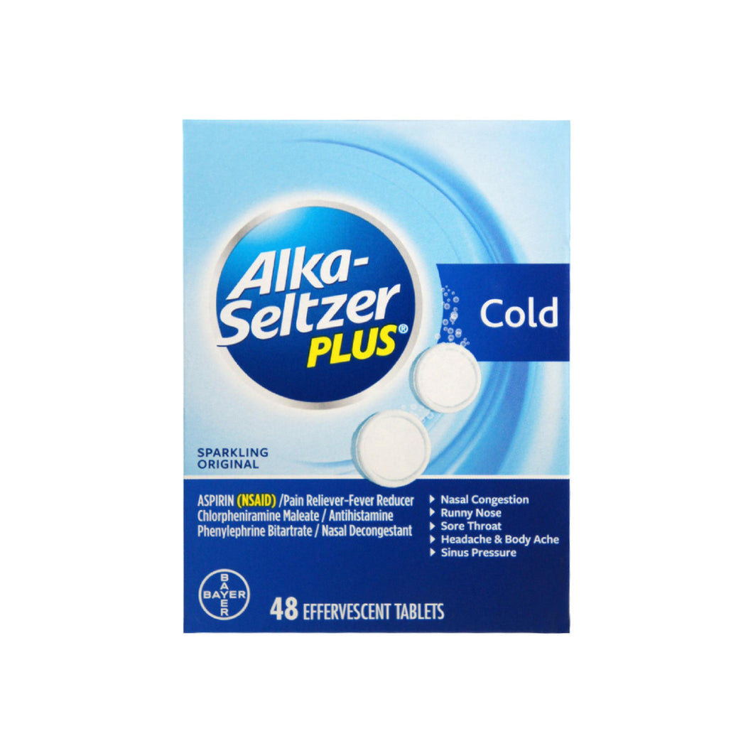 Alka-Seltzer Plus Cold Tablets 48 ea