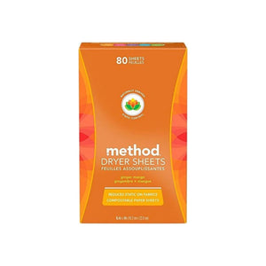 Method Dryer Sheets, Ginger Mango 80 ea