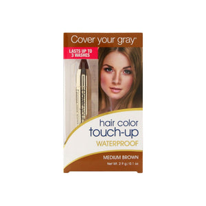 Cover Your Gray Waterproof Hair Color Touch-Up, Medium Brown 0.1 oz