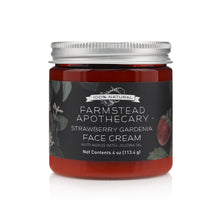 Load image into Gallery viewer, Farmstead Apothecary 100% Natural Anti-Aging Face Cream with Jojoba Oil, Strawberry Gardenia 4 oz