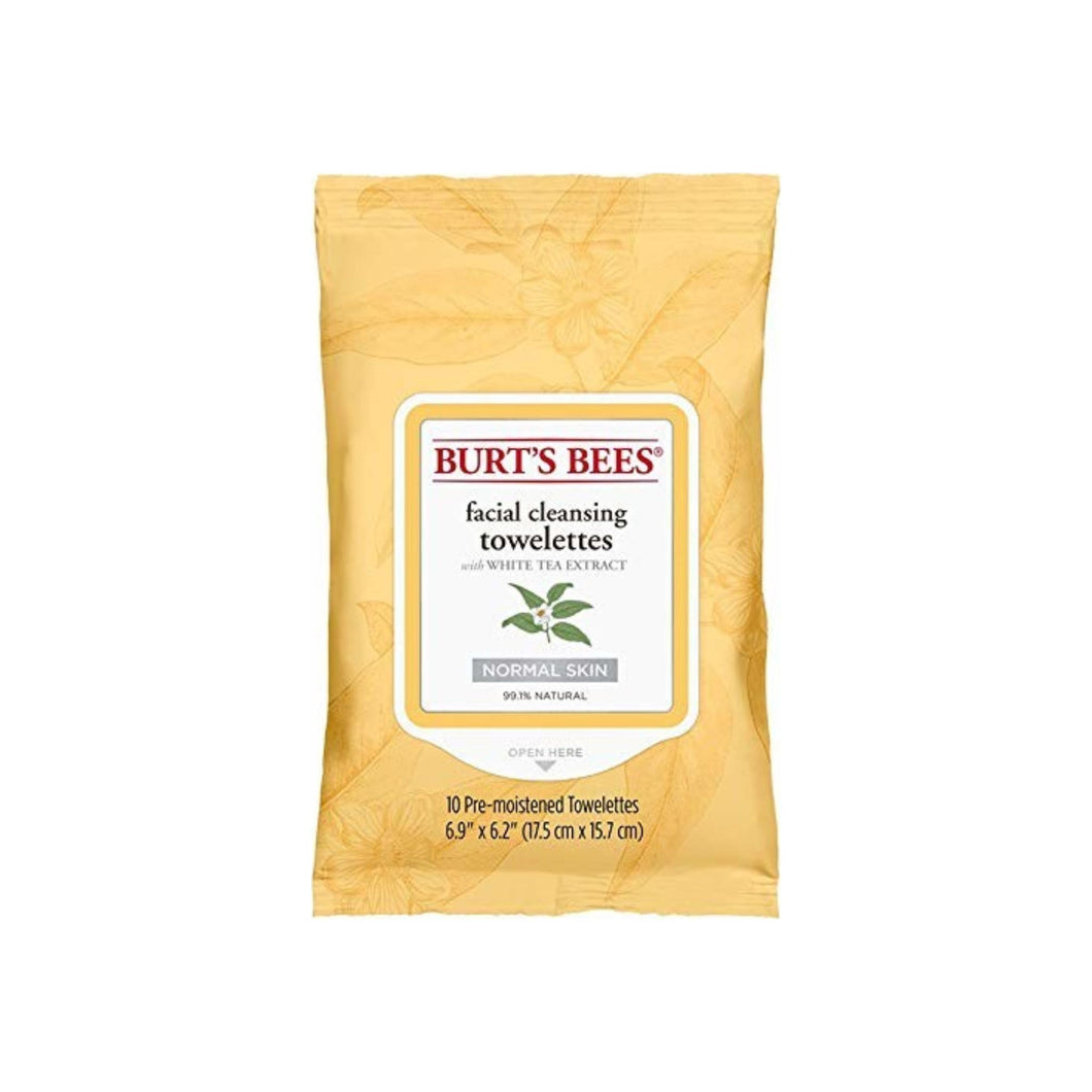 Burt's Bees Facial Cleansing Towelettes with White Tea Extract 10 ea