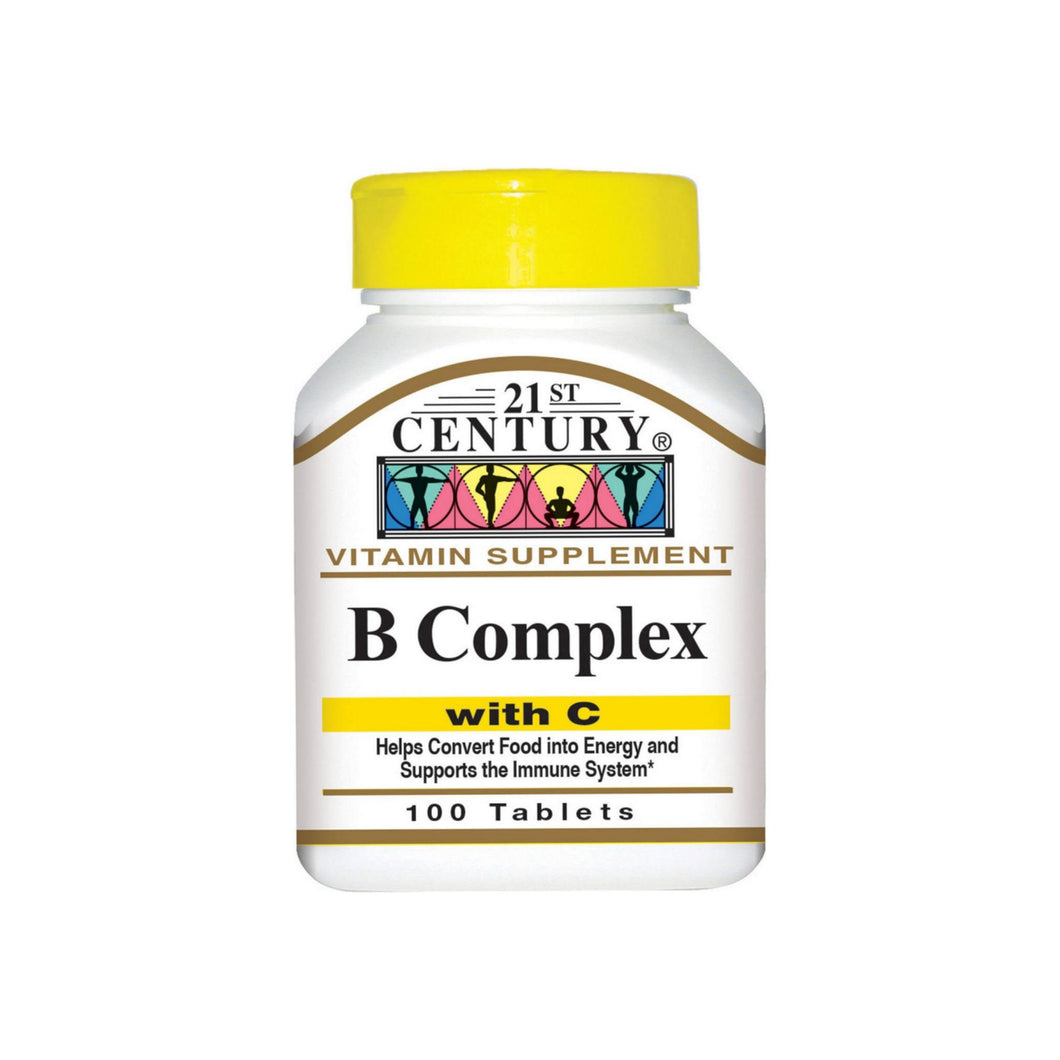 21st Century B Complex With C Tablets 100 ea