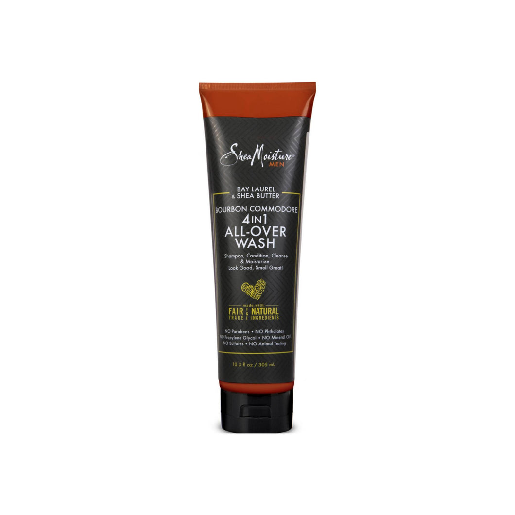 Shea Moisture Bourbon Commodore 4-in-1 All-Over Wash 10.3 oz