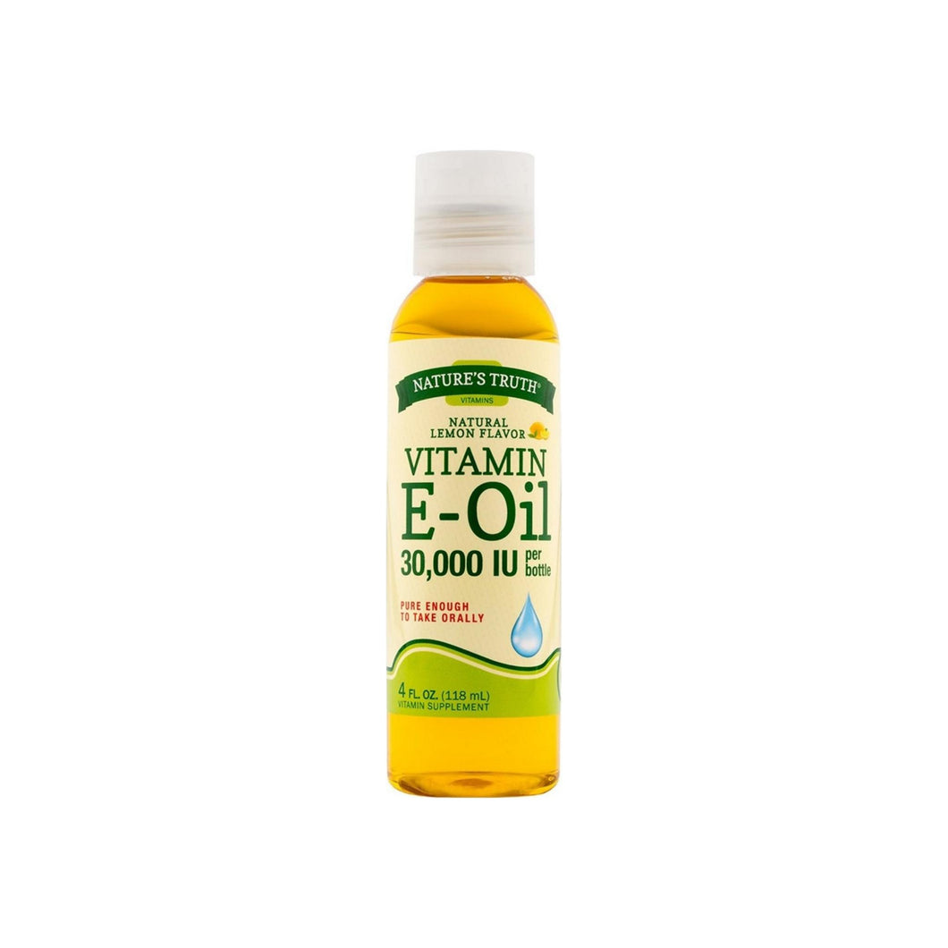 Nature's Truth Vitamin E Oil Liquid, Lemon Flavor 4 oz