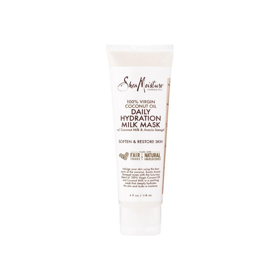 Shea Moisture 100% Virgin Coconut Oil Daily Hydration Milk Mask 4 oz
