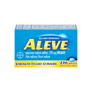 Aleve Pain Reliever/Fever Reducer, 270 Caplets