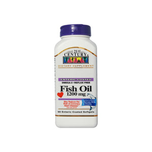21st Century Fish Oil, 1200mg, Enteric Coated Softgels 90 ea - Pharmapacks