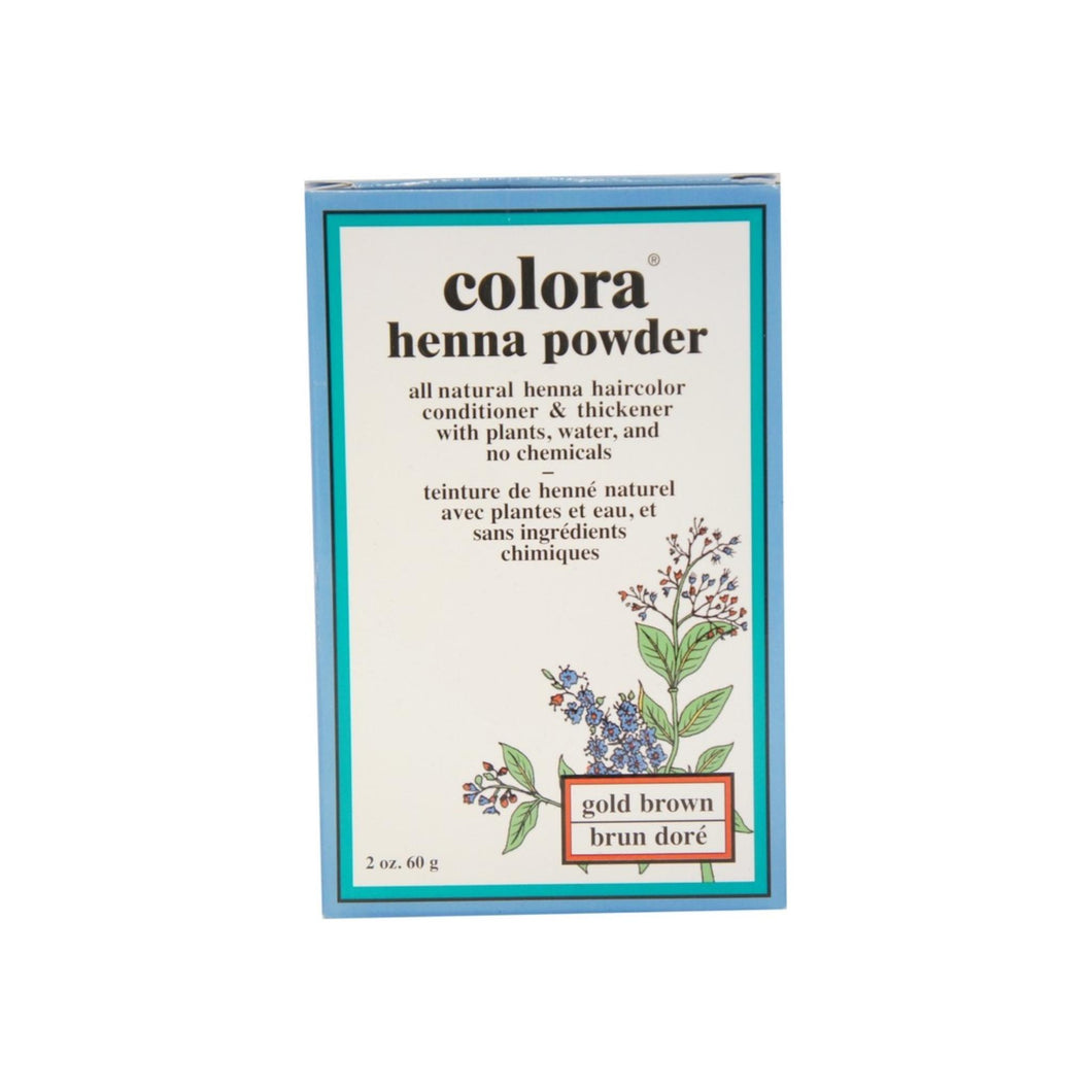 Colora Henna Powder Hair Color Gold Brown, 2 oz