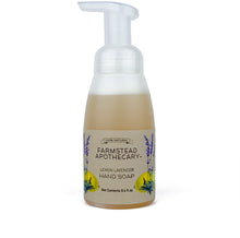 Load image into Gallery viewer, Farmstead Apothecary 100% Natural Foaming Hand Soap with Organic Coconut Oil & Organic Vitamin E Oil, Lemon Lavender 8.4 oz