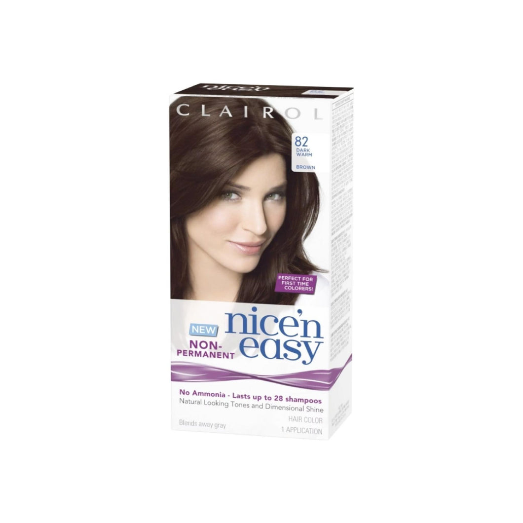 Nice'n Easy [82] Dark Warm Brown Non-Permanent Hair Color 1 ea